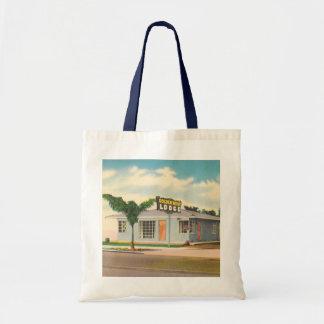 Vintage Hotel, Golden West Lodge Motel Canvas Bags