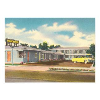 Vintage Hotel Golden West Lodge Motel Custom Announcement