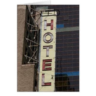Vintage HOTEL Notecard