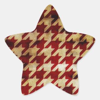 Vintage Houndstooth Star Stickers