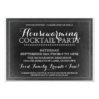Vintage Housewarming Cocktail Party Invitation