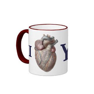 Vintage Human Anatomy, I Heart Love You Mug