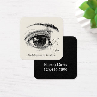 Vintage Human Anatomy The Human Eye Square Business Card