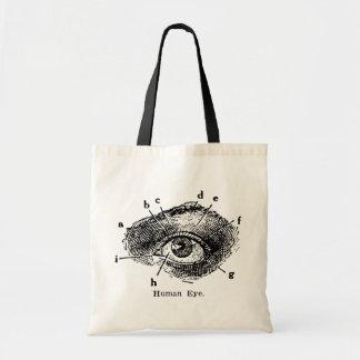 Vintage Human Eye Diagram Budget Tote Bag