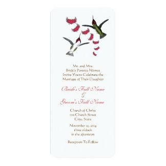Vintage Humming Birds Wedding Invitation