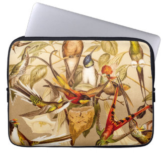 Vintage Hummingbird Bird Hummingbirds Birds  Birds Laptop Sleeve
