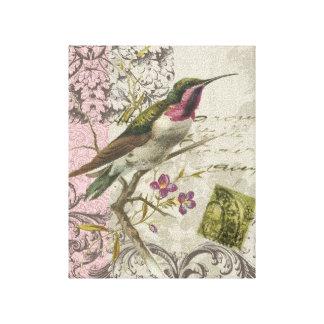 Vintage Hummingbird...stretched canvas