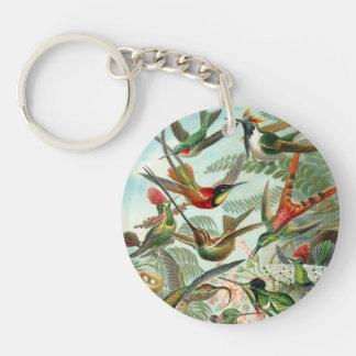 Vintage Hummingbirds Key Chain