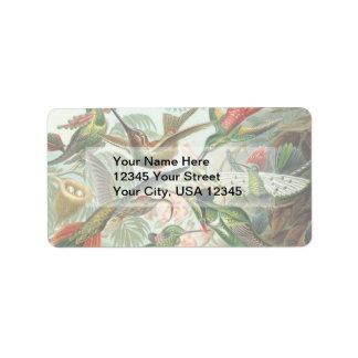 Vintage Hummingbirds Address Label