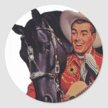 Vintage Humour, Music, Cowboy Singing to his Horse