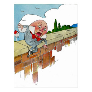 Vintage Humpty Dumpty Nursery Rhyme Illustration Postcard
