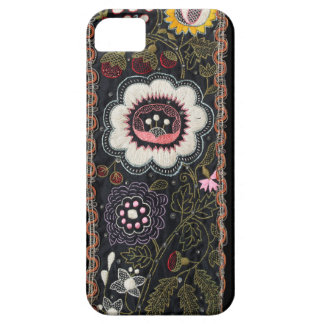 Vintage Hungarian Embroidery on Black Barely There iPhone 5 Case