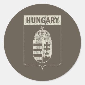 Vintage Hungary Classic Round Sticker