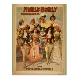 Vintage: Hurly Burly Extravaganza, 1899 Postcard