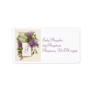 Vintage Hydrangea Address Label