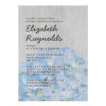 Vintage Hydrangea Bridal Shower Invitations