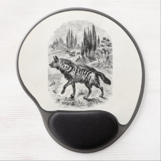 Vintage Hyena Dog 1800s Hyenas Illustration Gel Mouse Pad