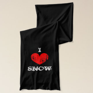 Vintage I heart snow scarf | Personalizable i love