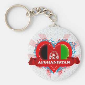 Vintage I Love Afghanistan Key Ring