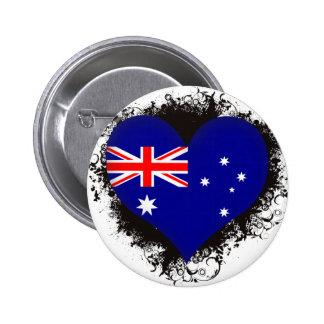 Vintage I Love Australia 6 Cm Round Badge