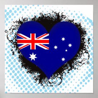 Vintage I Love Australia Print