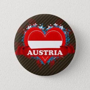 Vintage I Love Austria 6 Cm Round Badge