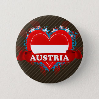 Vintage I Love Austria 6 Cm Round Badge