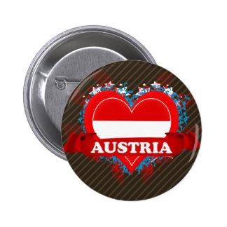 Vintage I Love Austria Pin