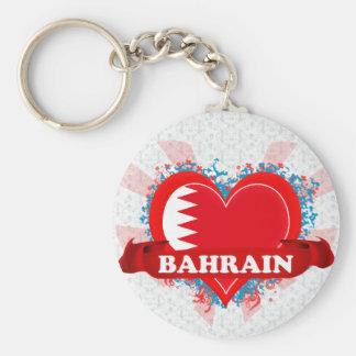 Vintage I Love Bahrain Key Ring