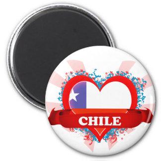 Vintage I Love Chile Magnet