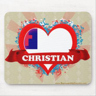Vintage I Love Christian Mousepad