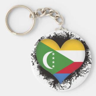 Vintage I Love Comoros Key Ring