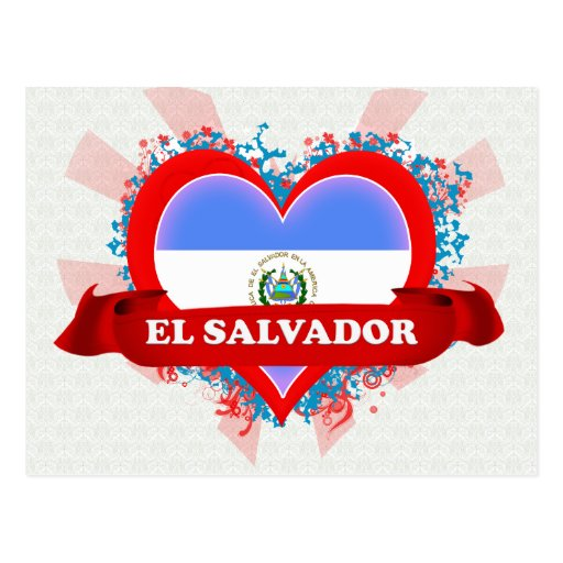 Vintage I Love El Salvador Post Card