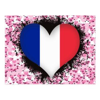 Vintage I Love France Postcard