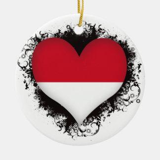 Vintage I Love Indonesia Christmas Ornament
