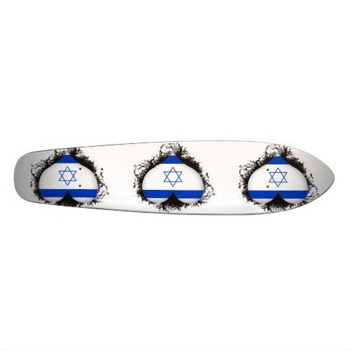 Vintage I Love Israel Custom Skate Board