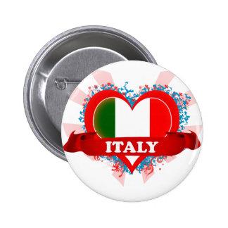 Vintage I Love Italy 6 Cm Round Badge