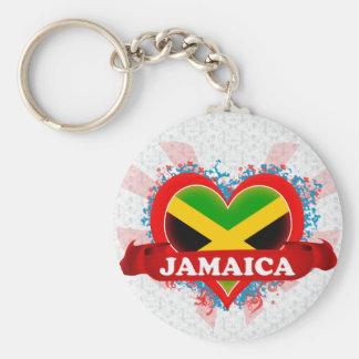 Vintage I Love Jamaica Key Ring
