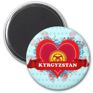 Vintage I Love Kyrgyzstan Magnet