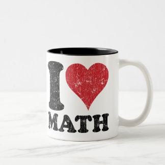 Vintage I Love Math Two-Tone Coffee Mug