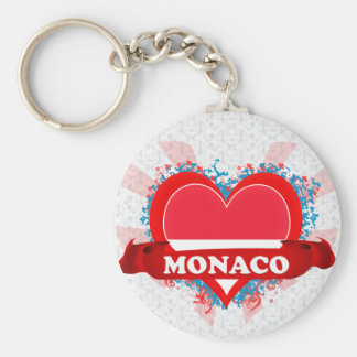 Vintage I Love Monaco Key Ring