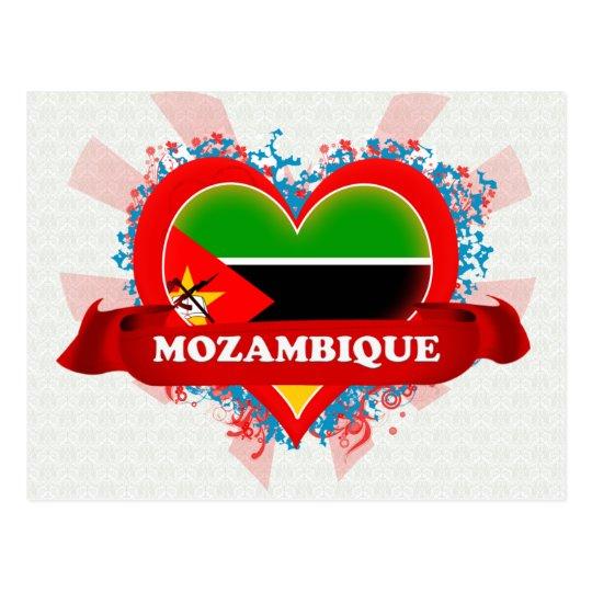 Vintage I Love Mozambique Postcard