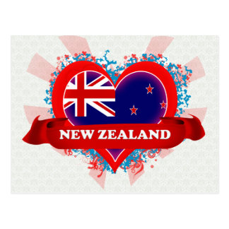 Vintage I Love New Zealand Postcard