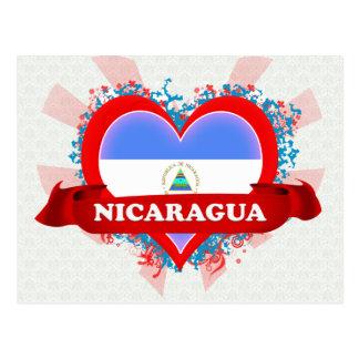 Vintage I Love Nicaragua Postcard