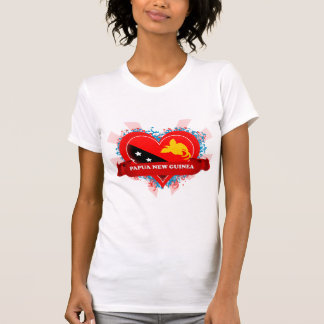 Vintage I Love Papua New Guinea T-Shirt