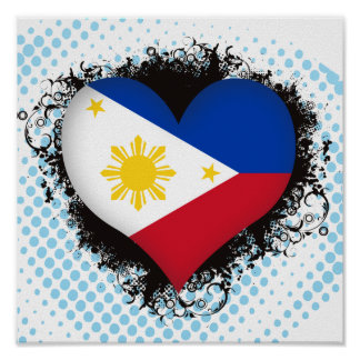Vintage I Love Philippines Poster