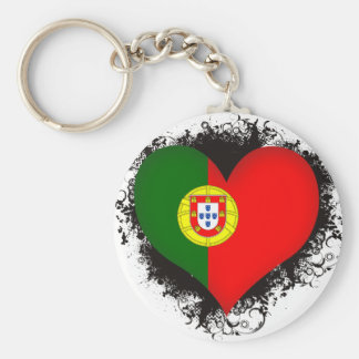 Vintage I Love Portugal Key Ring
