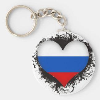 Vintage I Love Russia Key Ring