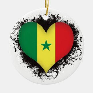 Vintage I Love Senegal Ceramic Ornament