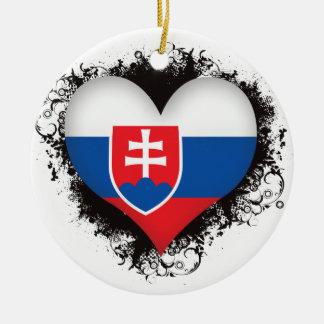 Vintage I Love Slovakia Ceramic Ornament